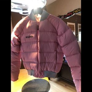 Columbia baby pink puffer